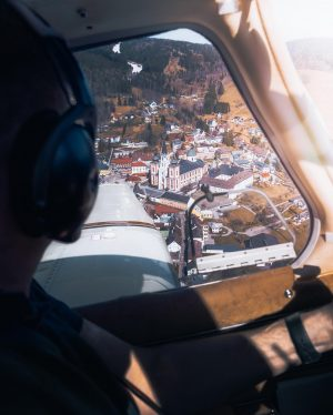 Little excursion over mariazell with austria's shortest runway. . . . . . . . . ....